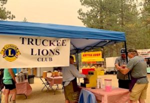 The Truckee Host Lions served beer and wine at the festival to raise money for vision-related services.